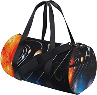 Womens Gym Bag Outer Space And Planets Set Mens Duffel Bags Duffle Luggage Travel Bag