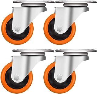 LYQQQQ 4 meubels/wielen, stil, 3/4/5 zwenkwielen, remwielen, zwenkwielen, meerdere combinaties, voor rekken, wagens, plat,...