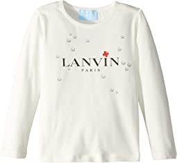 Long Sleeve Logo T-Shirt with Printed Bubbles (Toddler/Little Kids)