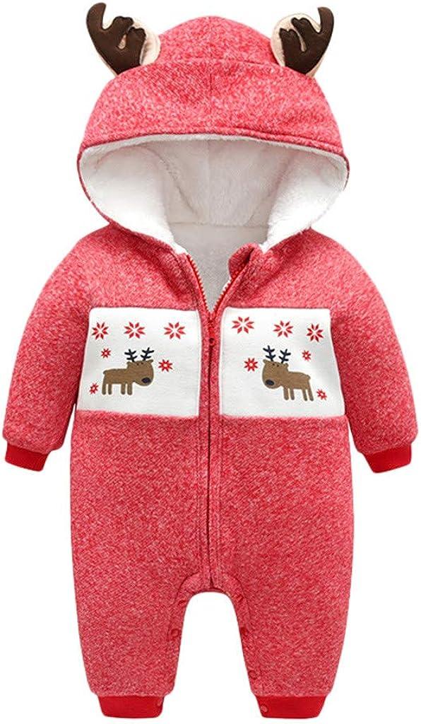 Christmas Hooded Romper Many popular brands Snowsuit for Infant Xmas Baby Boys Girls Translated