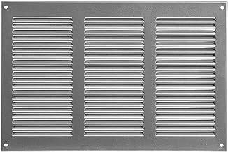 Rejilla de ventilación con protección contra insectos, 300 x 200 mm, gris, rejilla de ventilación de metal