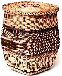 Panier à linge en osier coffre,corbeille à linge