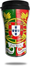 FTRGRAFE Military Flag of Portugal Travel Coffee Mug 3D Printed Portable Vacuum Cup,Insulated Tea Cup Water Bottle Tumblers for Drinking with Lid 8.54 Oz (250 Ml)