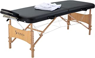 Sierra Comfort All Inclusive Portable Massage Table, Black
