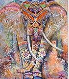 Tapiz para colgar en la pared, diseño de mandala bohemio, decoración de habitación, manta para la playa, diseño indio, poliéster, Elefante naranja, 210x150cm