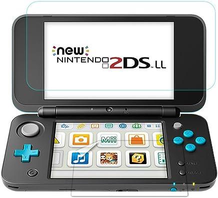 TUTUO Protector de Pantalla para Nintendo New 2DS XL Vidrio Templado 9H para Pantalla Superior*1 y Pantalla Inferior *1, Alta Definición de Cobertura Complet