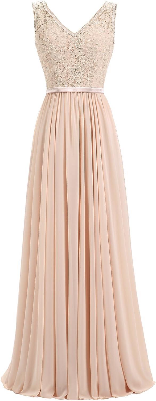 Epinkbridal Elegant V Neck Lace Evening Party Dress for Women Formal Prom Gowns