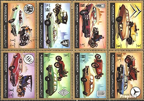 Prophila Collection Ajman 1418-1425 Un (Completa.Unusg.) 1972 Automobile Una Volta e Adesso (Francobolli per i Collezionisti) Traffico Stradale