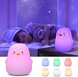 Penguin Gifts,GoLine Night Lights for Kids,Gifts for 1 2 3 4 5 6 7 8 Year Old Girls Boys Babies, Kids Night Lights for Bedroom,Cute Baby Nursery LED Lamps.