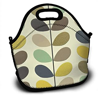 BIANDANN New Orla Kiely Wallpaper Reusable Insulated Zippered Tote,Thermal Lunch Bag Printed Lunch Tote Handbag Kids & Adults Picnic Bag School Cooler Bag