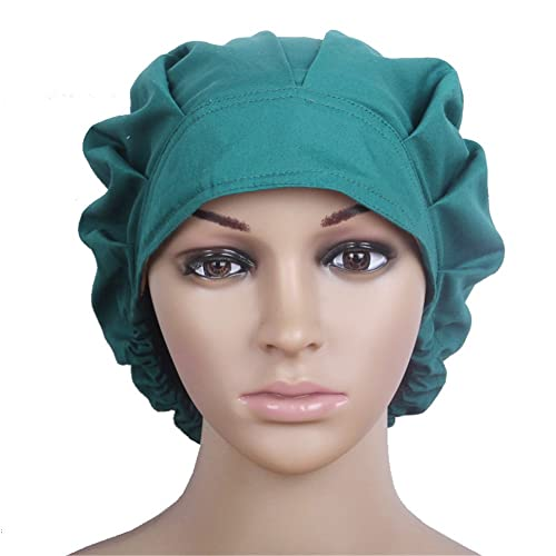 Doctor Scrub Cap Adjustable Sweatband Bouffant Cotton Hats for Women  Ponytail b815827b2a8b