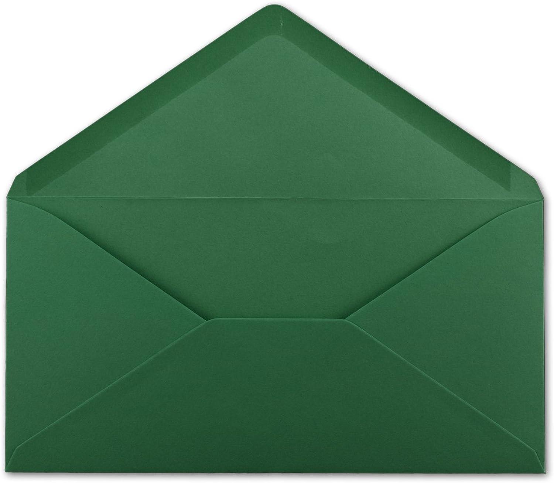 200 DIN Lang Briefumschläge Dunkelgrün 22 x 11 cm -120 g m² Nassklebung Post-Umschläge ohne Fenster ideal für Weihnachten Grußkarten Einladungen von Ihrem Glüxx-Agent B07GB57CVM | Ein Gleichgewicht zwischen Zähigkeit un