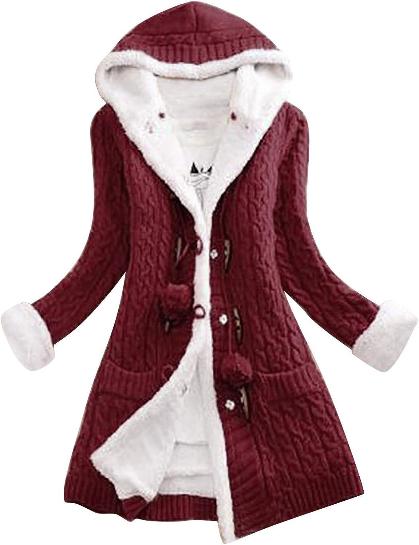 FABIURT Sweaters for Women, Womens Casual Open Front Knit Sweater Cardigan Long Sleeve Button Down Tunic Blouse Outwears