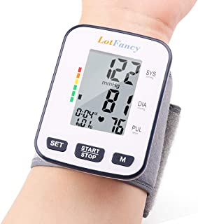 "Wrist Blood Pressure Monitor Cuff by LotFancy, 120 Reading Memory, 2 Users, BP Wrist Cuff (5.3""- 8.5""), Digital Blood Pressure Monitor with Large LCD Display, FDA Approved, Portable Case Included"