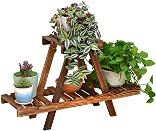 FJFSC Solid Wood Flower Racks Floor Style Multilayer Flower Stand Balcony Living Room with Indoor Flower Pot Shelf Display