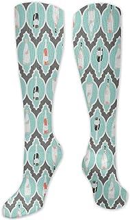 MISS-YAN, Champagne calcetines para los hombres y de las mujeres loca divertida corrientes atléticos Trel Deportes sobre la pantorrilla Calcetines