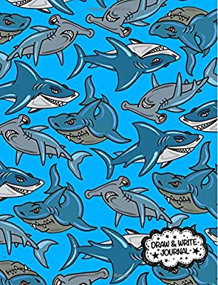 Draw and Write Journal (Primary Composition Notebook/Journal): Kid's Shark Book - Learn To Write and Draw Journal; Kindergarten Journal