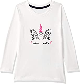 American-Elm White Regular Fit Full Sleeves Cotton Printed T-Shirt for Girls | Cotton T-Shirt for Kids Girls (ME-PGFST-Uni...