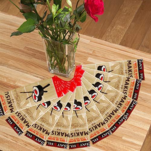 Ensemble Facile Plantes Of10 Style Japonais Sushi Roll Maker Bambou Rouler équipement de Préparation 24,1 x 24,1 cm