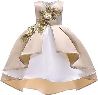 503d5c8792c Lisansang Robe de mariée Fille Vintage Filles Anniversaire Robe de soirée  de Mariage Robe de Bal