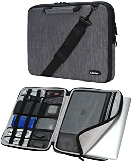iCozzier 17 Inch Handle Laptop Briefcase Shoulder Bag Electronic Accessories Organizer Messenger Carrying Case Sleeve Prot...