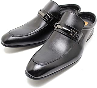 ■足ムレ対策に!!オフィス履きに最適なビジネスサンダル■LASSU&FRISS/ラス&フリス 916 ビットローファータイプ ブラックレザー日本製 本革 スリッポン ビジネスシューズ 革靴