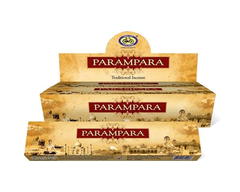 謝罪広まったずんぐりしたIncense Sticks ParamparaサイクルAgarbatti 3?–?12パックMasala Sticksフローラルな香り 12 Pack