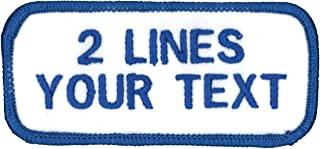 2 Line Name Patch Uniform or Work Shirt Custom-Personalized-Embroidered