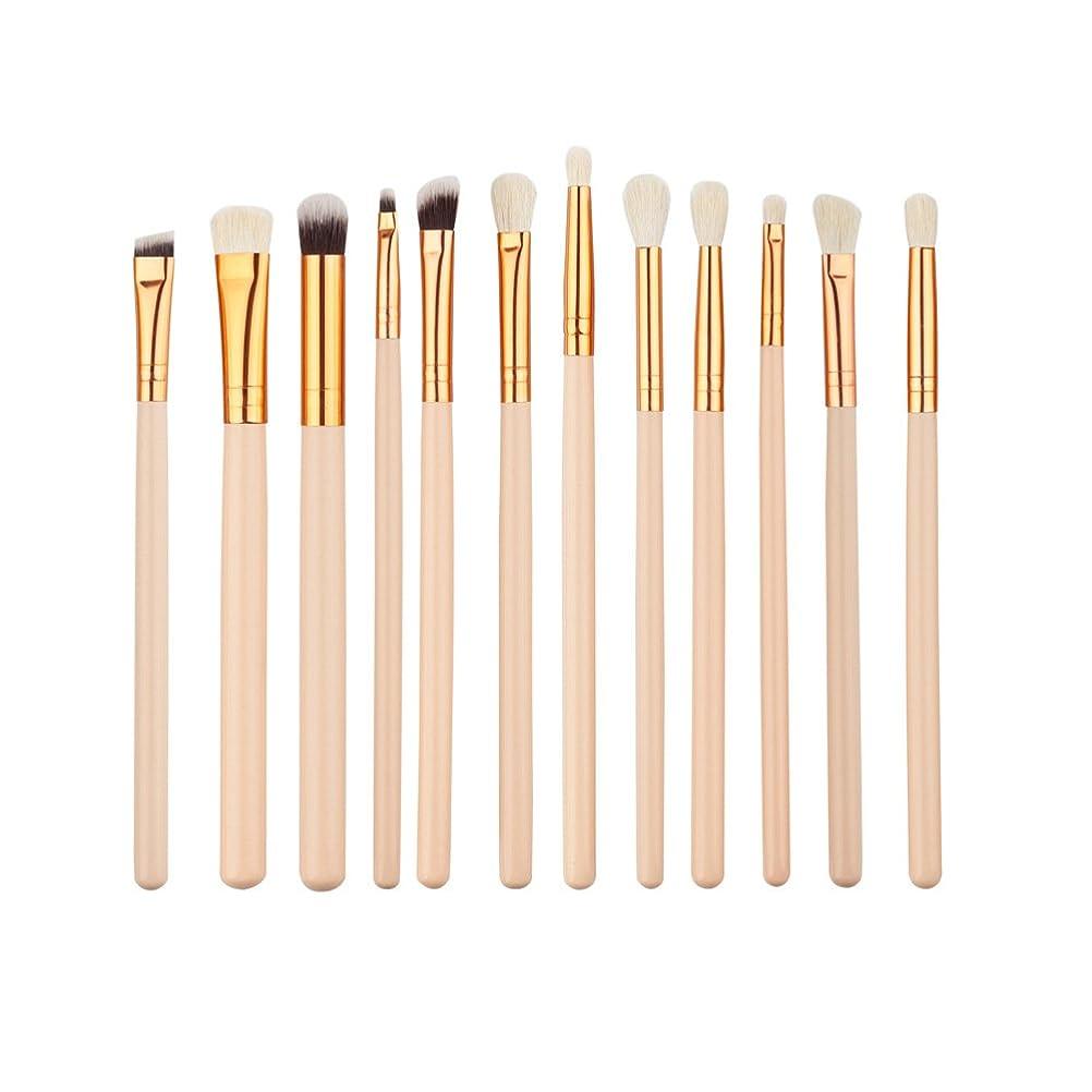 ネブブレース終わらせるELECOOL 12pcs Eye Makeup Brushes Kit Women Eyeshadow Powder Eyeliner Blending Brush Eye Shadow Brushes