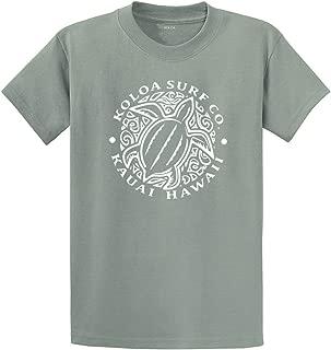 Koloa Surf Honu Hawaiian Turtle Front Logo Heavyweight Cotton T-Shirts