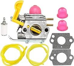 HIPA 530071752 530071822 545081808 Carburetor with Primer Bulb Fuel Filter Line Hose Tube for Poulan Craftman Weed Eater String Trimmer