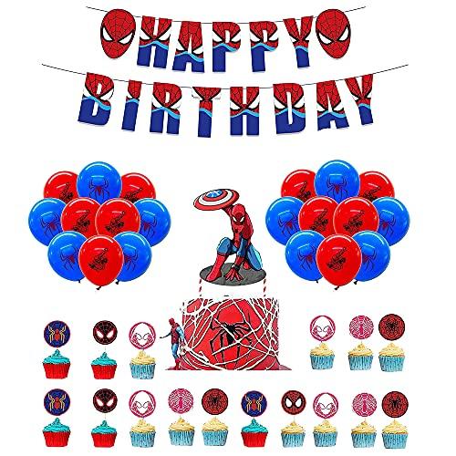Palloncini Compleanno Spiderman Palloncino Spider Man Striscioni Compleanni Spiderman Decorazioni Torta Spiderman Decorazione Compleanno Spiderman