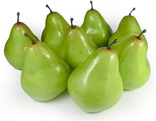 GuCra Artificial Fruit, Pear 8 pcs Pack, Fruit Model Green