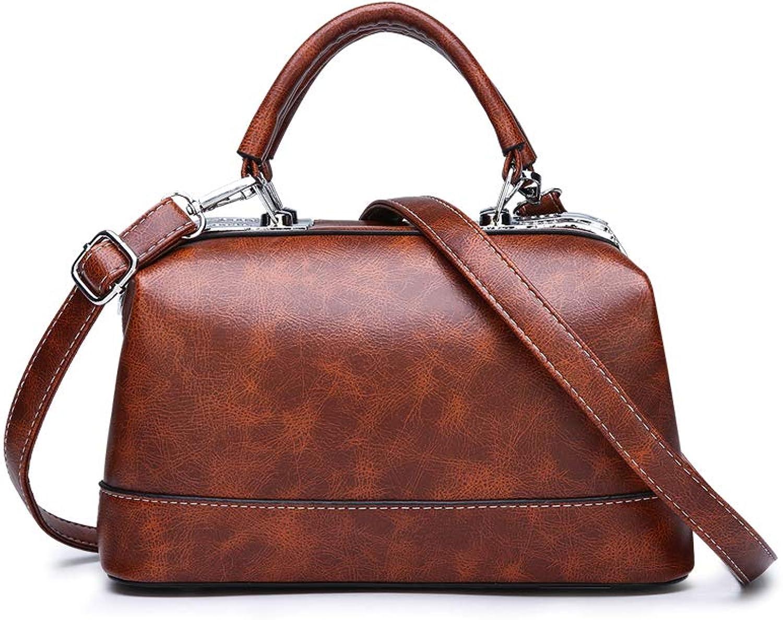 KUNZITE Women Portable Handbags Box Shape Messenger Shoulder Bags Daily Small Size Pocket Sack