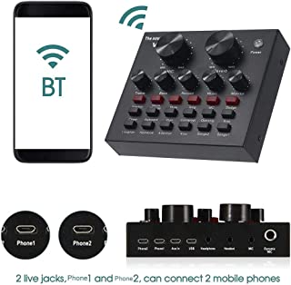 $30 » Sound Mixer Board with Voice Changer and Sound Effects, Audio DJ Mixer for Phone Computer Game Tablets with 3.5mm Audio Ja...