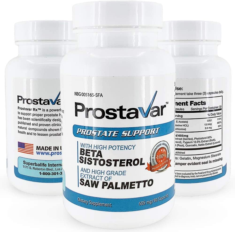 Prostavar Prostate Support We OFFer at cheap prices with Saw Palmetto 90capsuels - Free shipping anywhere in the nation 605mg