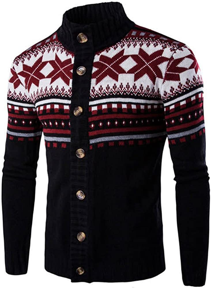 F_Gotal Unisex Ugly Christmas Sweater Long Sleeve Printed Crewneck Knitted Pullover Tops for Sweater Contest Blouse