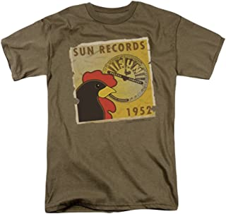 Sun Records Distressed Rooster Poster Adult T-Shirt