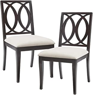 MADISON PARK SIGNATURE Cooper Dining Chair (Set of 2) Linen/Ebony See Below
