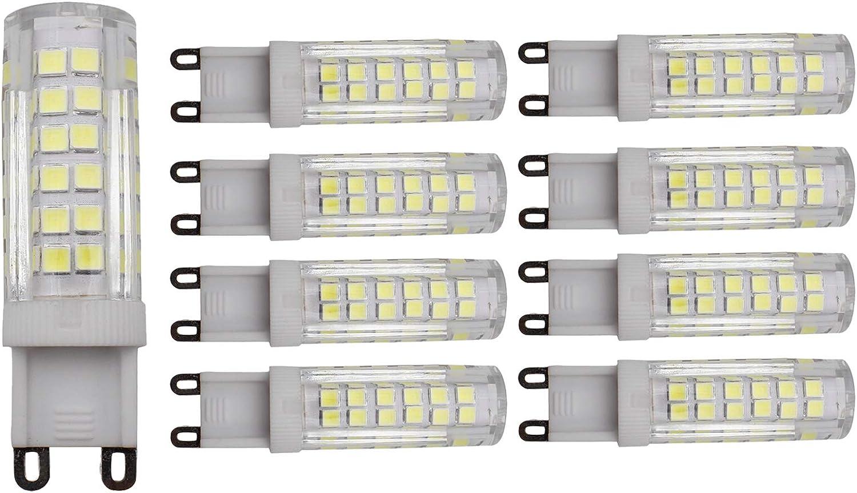 Pack of 8 AC 100-130V Natural White 4000-4200K 4800LM,60W Halogen Bulbs Equivalent LED G9 Spotlight Lamp JCKing 7W G9 Energy Saving Bulb Lamp 75 SMD 2835 LEDs