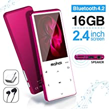 MYMAHDI MP3 Player with Bluetooth 4.2, Touch Buttons with 2.4 inch Screen, 16GB Portable..