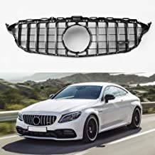 GT R style silver color front grill for Mercedes Benz C class W205 C300 C250 2015+ AMG package without camera(not for C63)