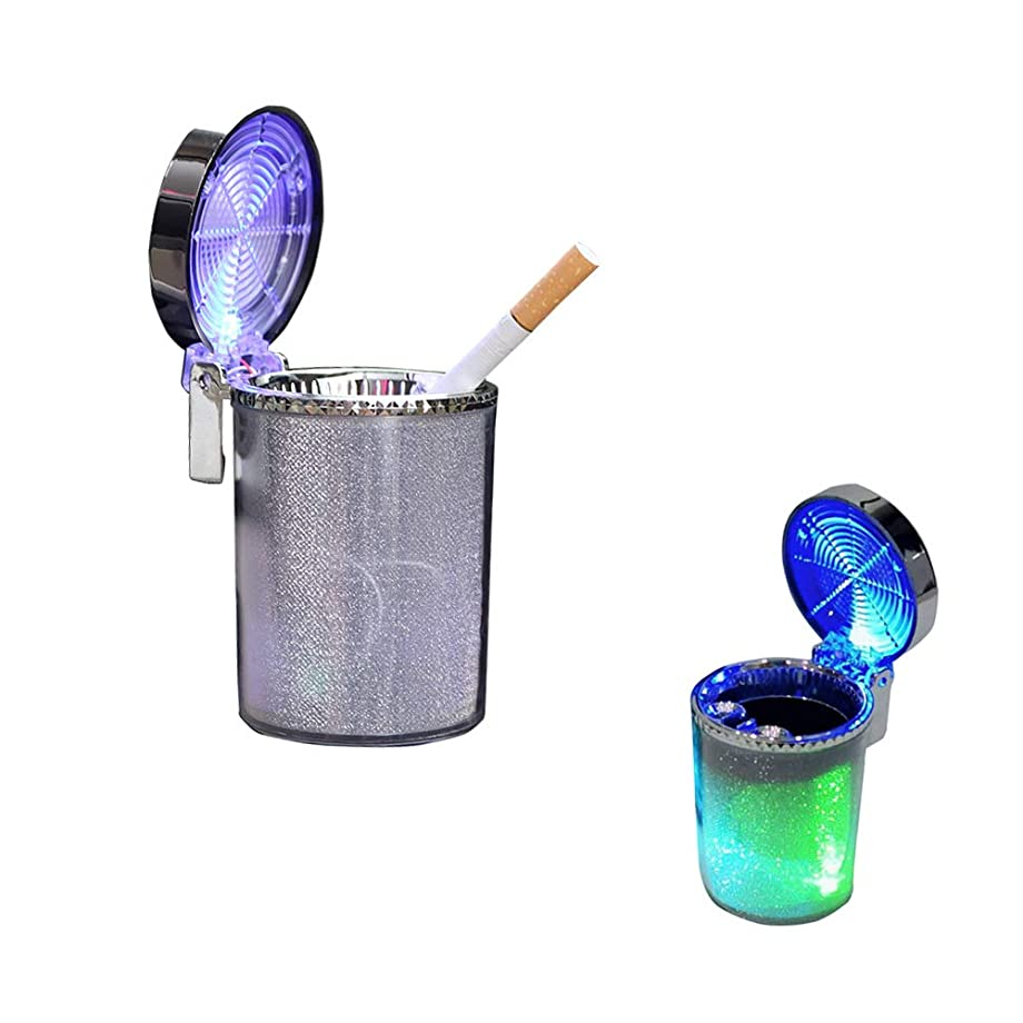 Easyinsmile Portable Cigarette Ashtray for Car Cup Holder with Lid and Light Truck Office Auto Plastic Home Cigarette Ashtray Holder Lighter