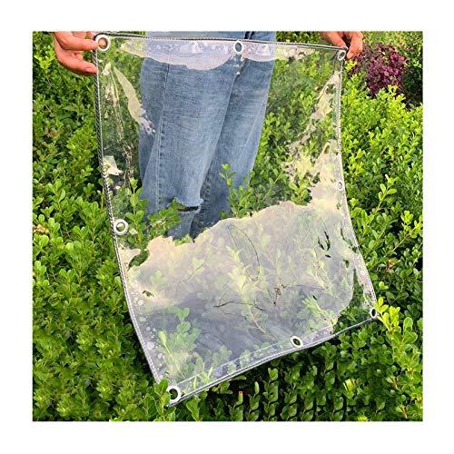 WZNING Lona impermeable resistente, 360 g/m² transparente, cubierta de plantas, PVC perforado, impermeable y resistente al viento, apto para uso diario, balcón, exterior duradero y protector
