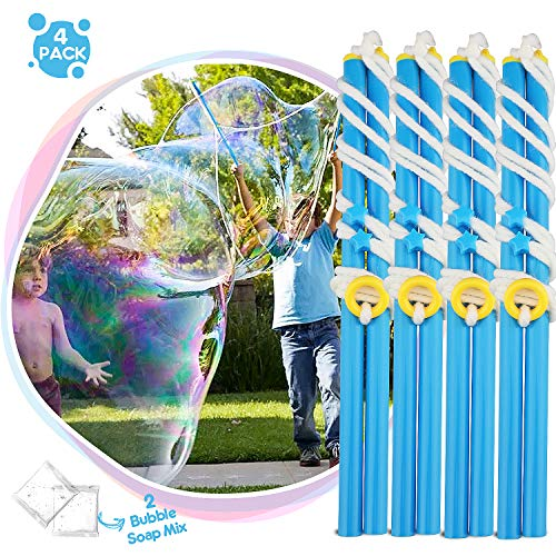 TOY Life Large Bubble Wands for Kids, Giant Bubble Wand Kit for Kids, Big Bubble Wand Set, Large Bubble Mix Wand Toys, Bubble Maker for Kids for Outdoor Bubble Stick for Kids, Boys, Girls, Toddlers