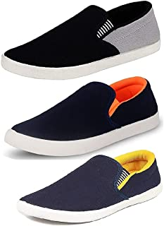 Tempo Men's Combo Pack of 3Loafers Shoes (SLVGRY/SLVORN/SLVYLW)