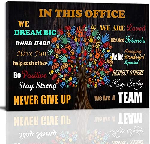 Inspirational Wall Art Motivational Poster Quotes Office Wall Decor for Girls Women Room D cor product image