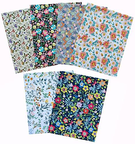 6pcs 18 x 22 inches Fat Quarters Fabric Bundles, Quilting Fabric Squares, Sewing...