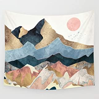 APHER Sunset Golden Mountain Wall Hanging Tapestry for Bedroom Dorm Room Decor 60