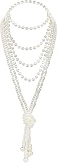 Art Deco Jewelry 1920s Pearl Necklace Long Necklace for Women Gatsby Flapper Costume Accessories Vintage Party